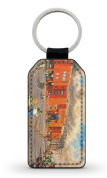 celtic park going to the match  PU Leather Keyring Printed Both Sides (1)